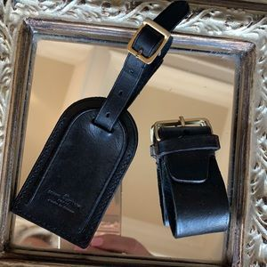 Noir Luggage ID Tag and Handle Clasp
